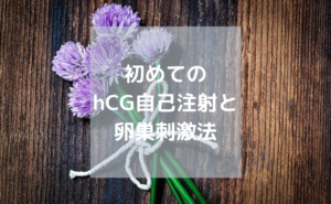 hCG自己注射と卵巣刺激法