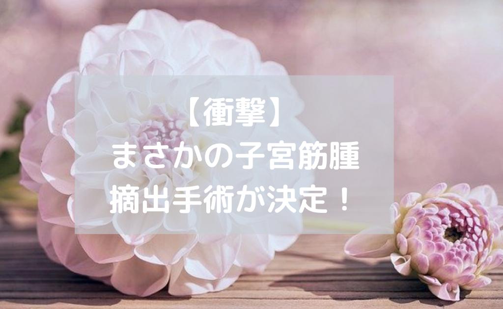 【衝撃】まさかの子宮筋腫摘出手術が決定!