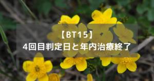 【BT15】4回目判定日と年内治療終了